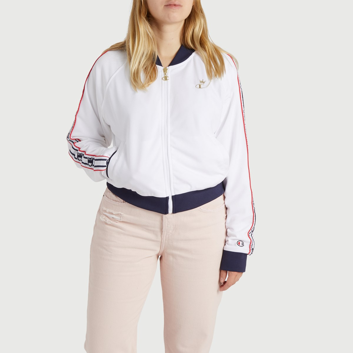 Women's Track Jacket in White