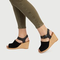Women's Tropez Wedge Sandals in Black