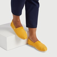 Women's Alpargata Slip-Ons in Yellow