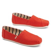 Women's Alpargata Slip-Ons in Red