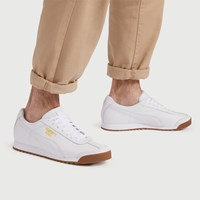 Men's Roma Classic Sneakers in White