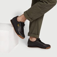 Men's Roma Classic Sneakers in Black