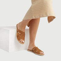 Women's Ella Slide Sandals in Brown