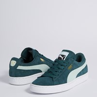 Women's Classic+ Sneakers in Green Suede