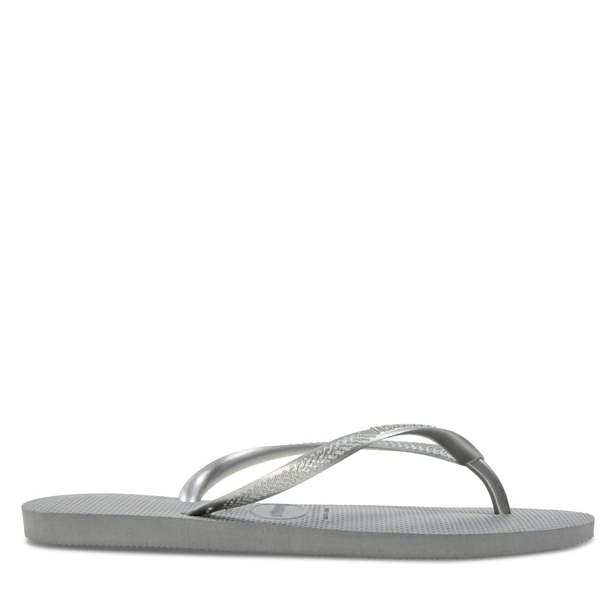 Women's Slim Flip Flops in Grey