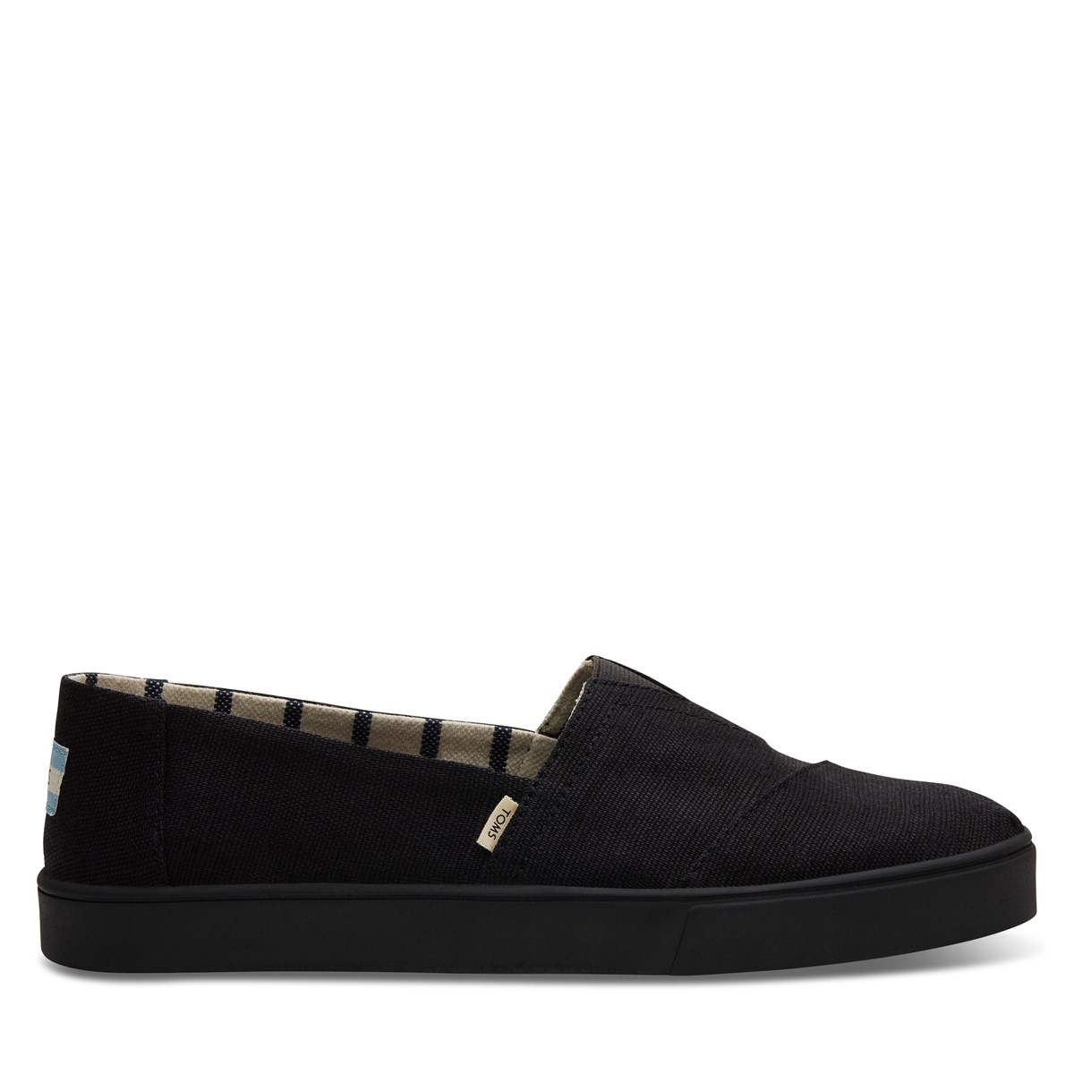 Men's Alpargata Cupsole Slip-Ons in black