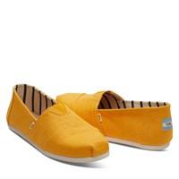Chaussures Alpargatas classiques dorées pour hommes