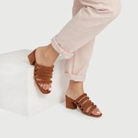 Sandales Poppy cognac pour femmes