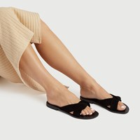 Women's Romy Slide Sandals in Black