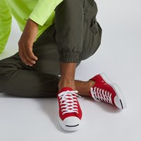 Men's Jack Purcell Twill Ox Sneakers in Red