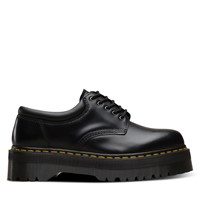 Women's 8053 Polished Smooth Platform Shoes in Black