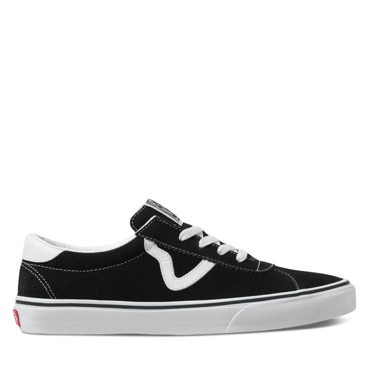 Men's Sport Suede Sneakers in Black
