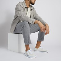 Men's Suede Sport Sneakers in White