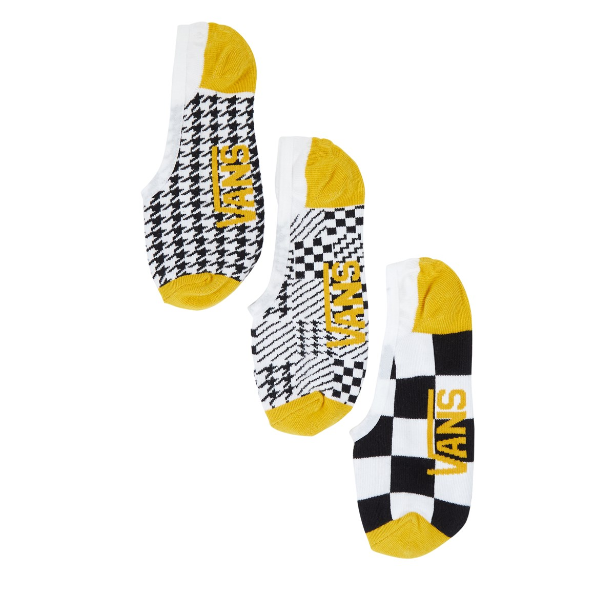 Women's 3 Pair Pack Houndstooth Check Canoodles Socks