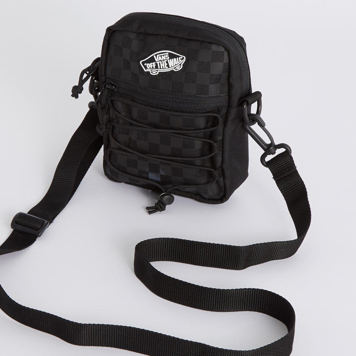 Street Ready Sport Crossbody Bag in Black/Grey Checkerboard