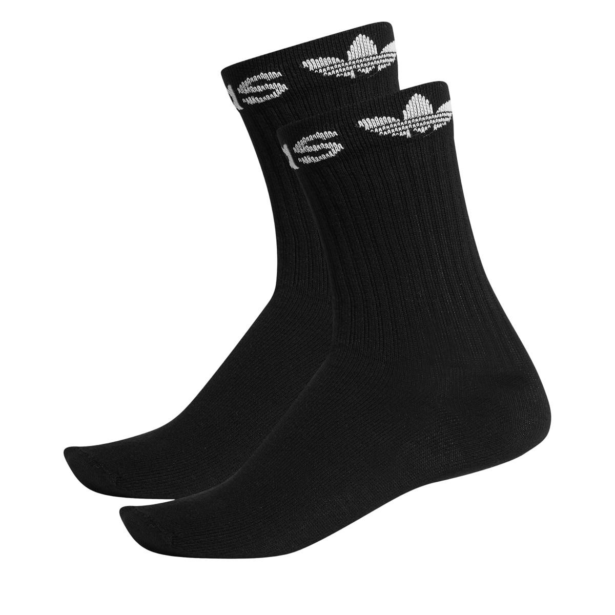 2 Pair Pack of Line Crew Socks in Black