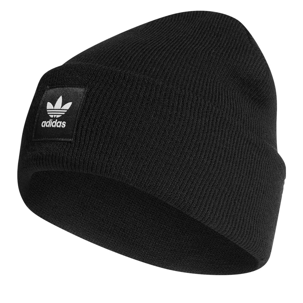 AC Cuff Knit Beanie in Black
