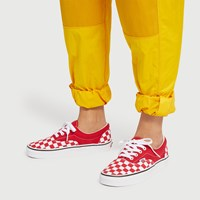 Women's Checkerboard Era Sneakers in Red