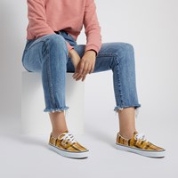 Women's Era Sneakers in Yellow Plaid