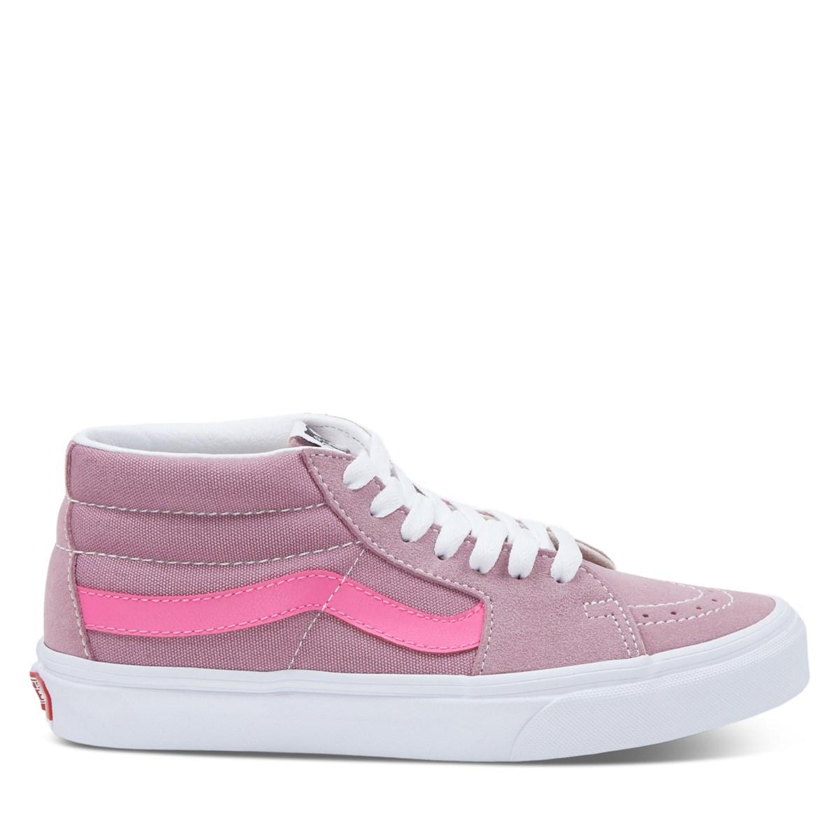 Women's Retro Sport Sk8-Mid Sneakers in Pink