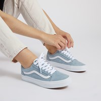 Women's Old Skool Sneakers in Baby Blue Suede