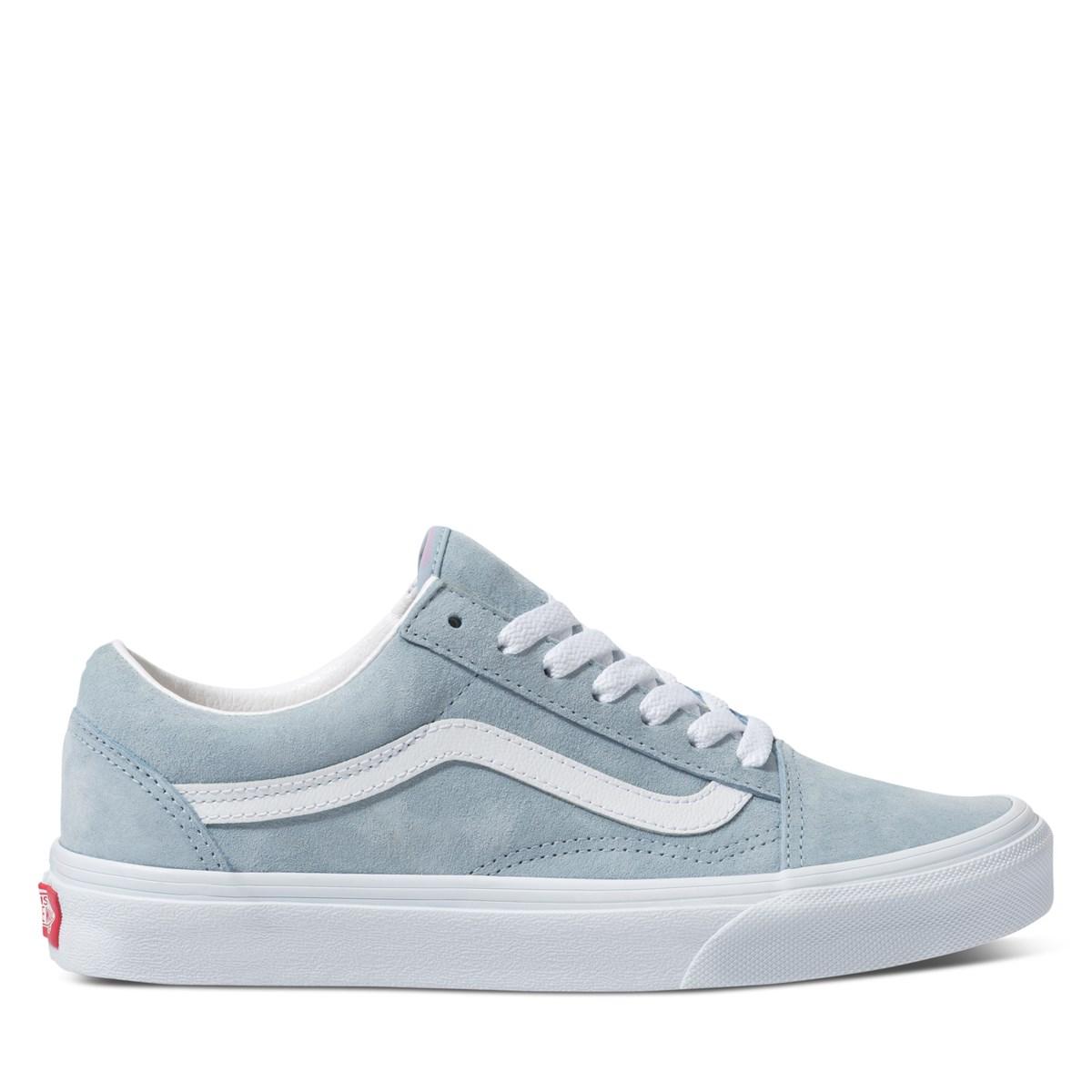 Women's Old Skool Sneakers in Baby Blue Suede