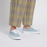 Women's Authentic Sneakers in Baby Blue Suede
