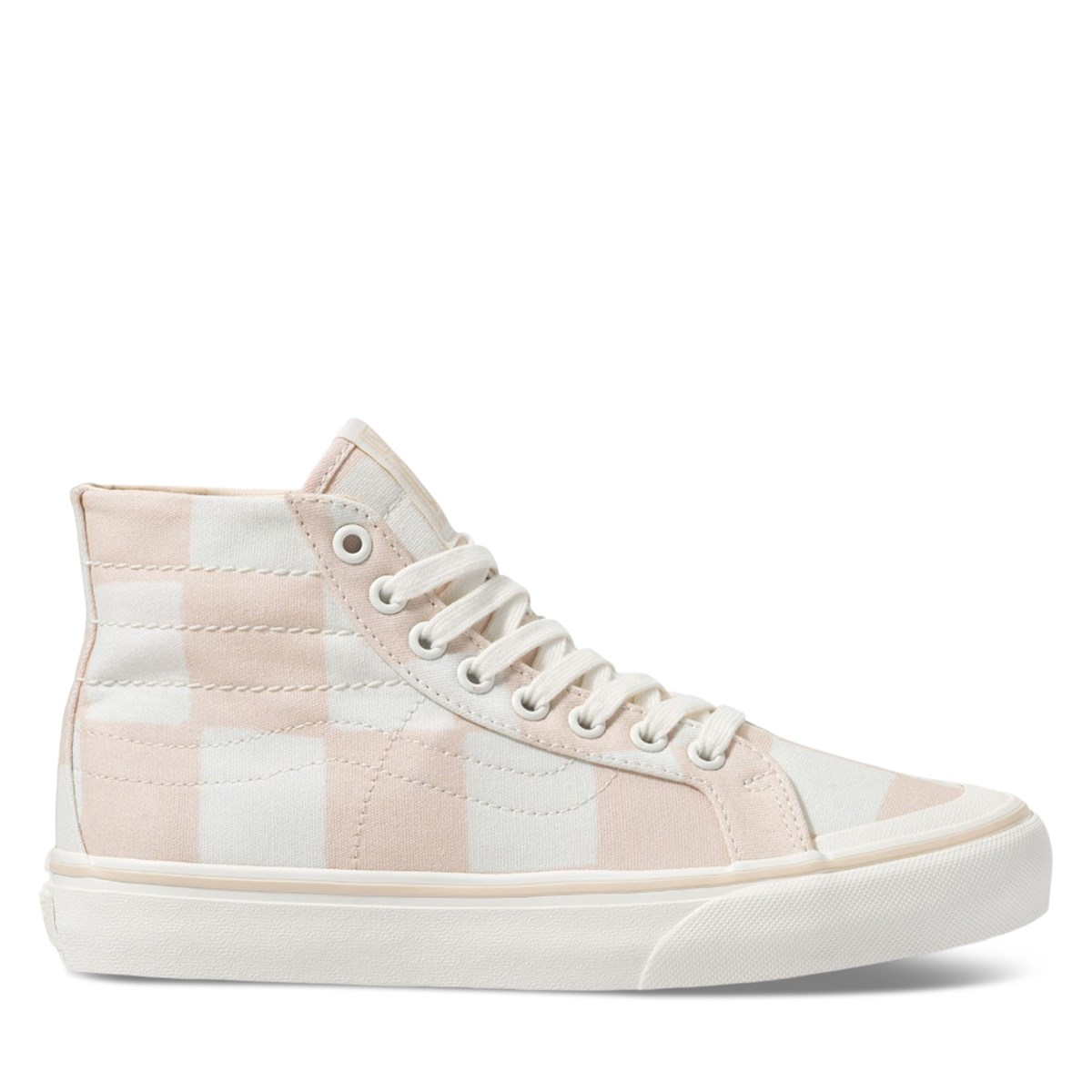 Women's Big Check Sk8-Hi 138 Decon SF Sneakers in Light Pink