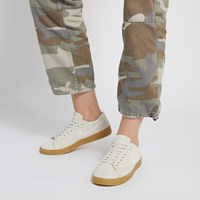Women's Blazer Low Suede Sneakers in Beige