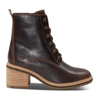 Women's Sienna Heeled Lace-Up Boots in Dark Brown