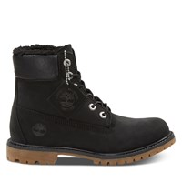 Women's 6 Inch Fleece Lined Waterproof Boots in Black