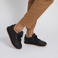 Baskets Classic Leather noires pour hommes