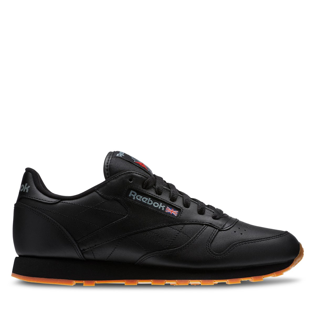 Men's Classic Leather Sneakers in Black