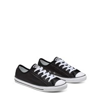 Women's CTAS Dainty Sneakers in Black Leather