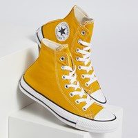 Chuck Taylor High Top Sneakers in Gold