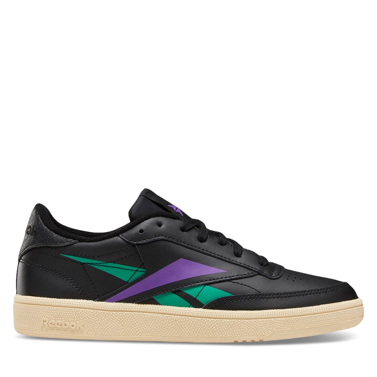 Women's Club C 85 Vector Sneakers in Black