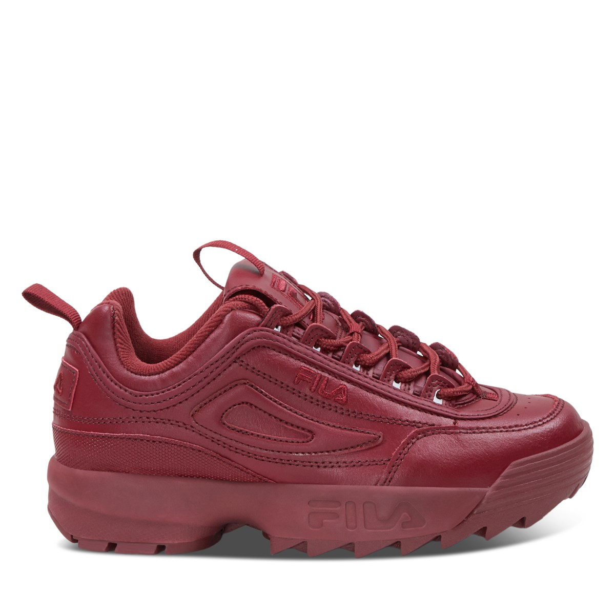 Women's Disruptor II Sneakers in All Red