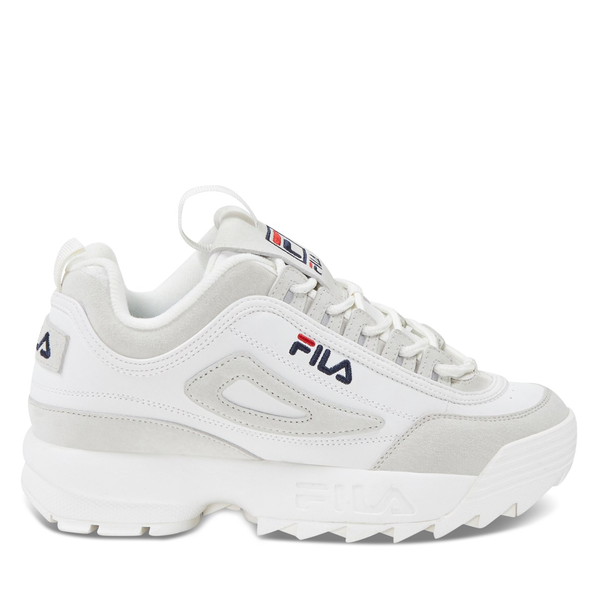 Women's Disruptor II Premium Gardenia Sneakers in White