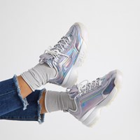Women's Disruptor II Iridescent Platform Sneakers in Silver