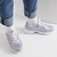 Women's Creator Iridescent Sneakers in Silver