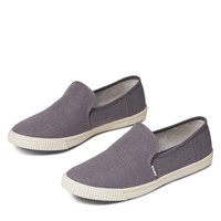 Women's Vegan Clemente Heritage Slip-Ons in Grey