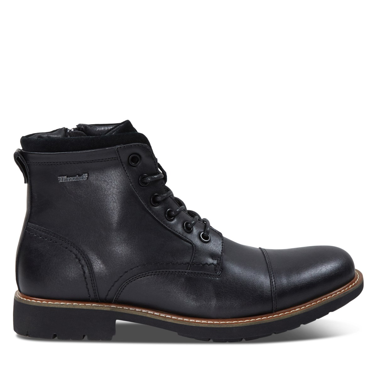 Men's Davide Lace-Up Boots in Black