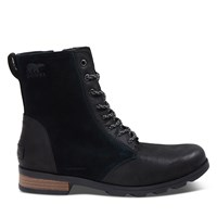 Women's Emelie Short Lace-Up Waterproof Boots in Black