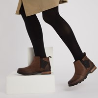 Women's Emelie Chelsea Waterproof Boots in Dark Brown