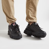 Men's Disruptor II Sneakers in Black