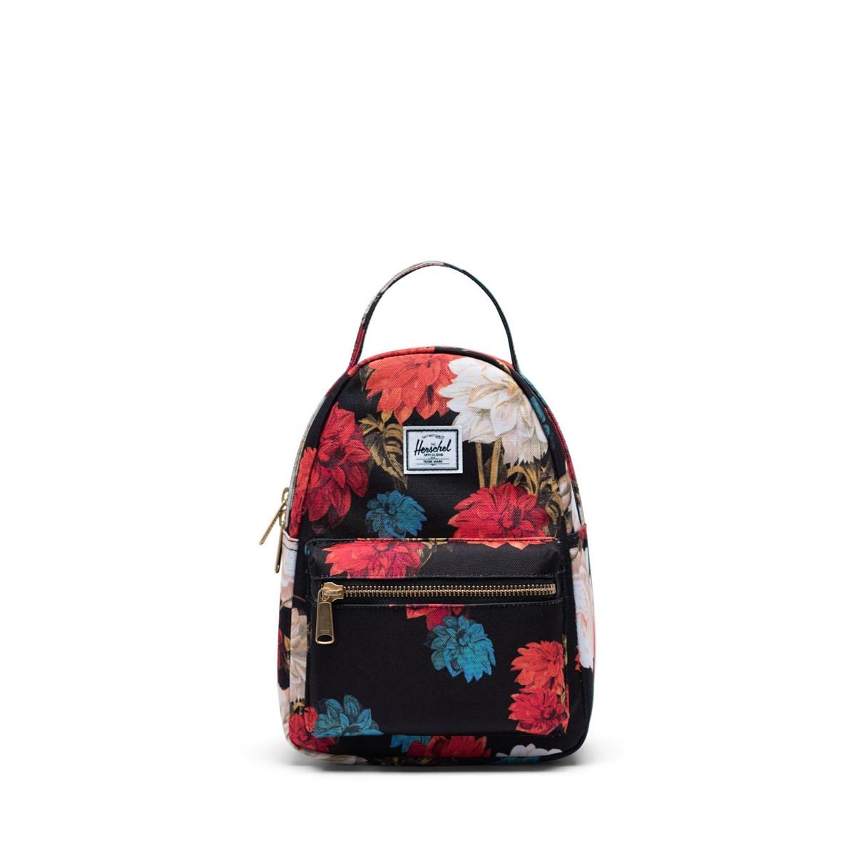 Nova Mini Backpack in Floral Black