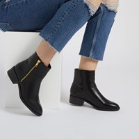 Women's Vegan Liman Zip-Up Boots in Black