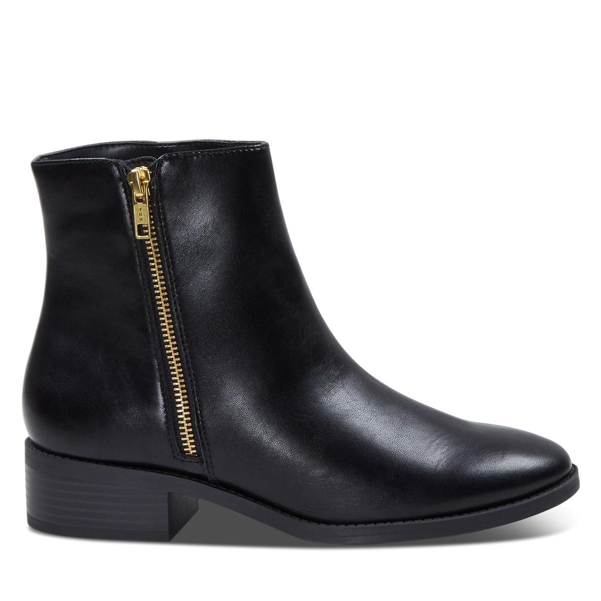 Women's Vegan Liman Zip-Up Boots in Black