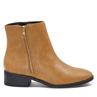 Women's Vegan Liman Zip-Up Boots in Nude