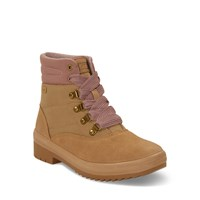 Women's Camp Waterproof Boots in Beige Suede